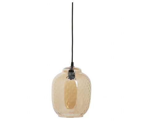 BePureHome Hanging lamp Bubble antique brass gold glass 25x20x20cm