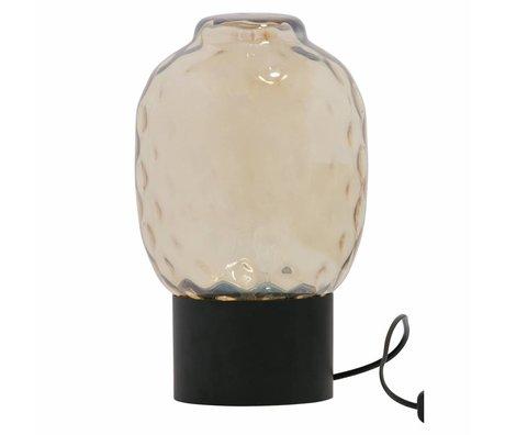 BePureHome Tischlampe Blase XL antike Messinggold Glas 34x21x21cm