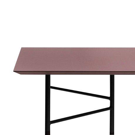 Ferm Living Mingle tafelblad bordeaux rood linoleum 210x90x2cm