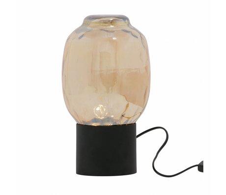 BePureHome Tischlampe Blase L antike Messinggold Glas 29x18x18cm