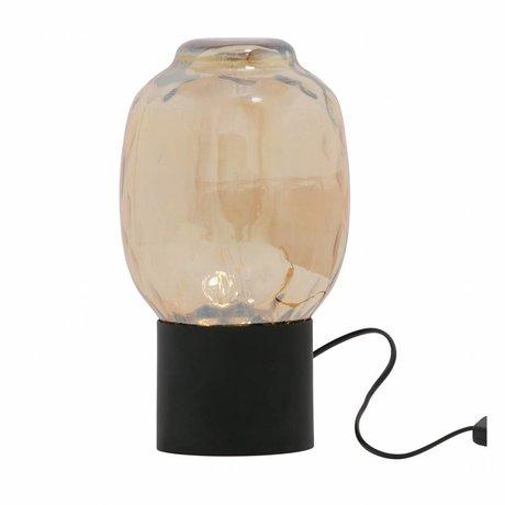 BePureHome Tafellamp Bubble L antiek brass goud glas 29x18x18cm