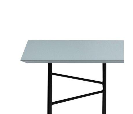 Ferm Living Mingle table top dusty charcoal black linoleum 210x90x2cm