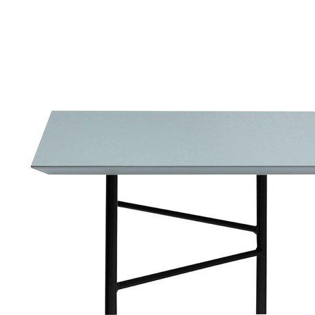 Ferm Living Mêlez charbon de table poussiéreuse linoléum noir 210x90x2cm
