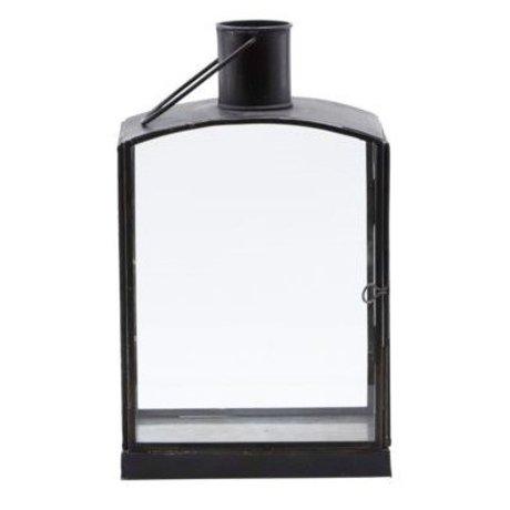 Housedoctor Lantaarn Orgi zwart ijzer 16,5x11x27cm