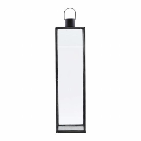 Housedoctor 20x20x79cm lanterne étroite de fer noir