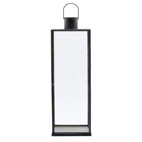 Housedoctor Schmale schwarze Eisen Laterne 20x20x60,5cm