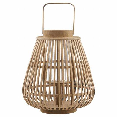 Housedoctor Lantern Balu bamboo 30x33cm