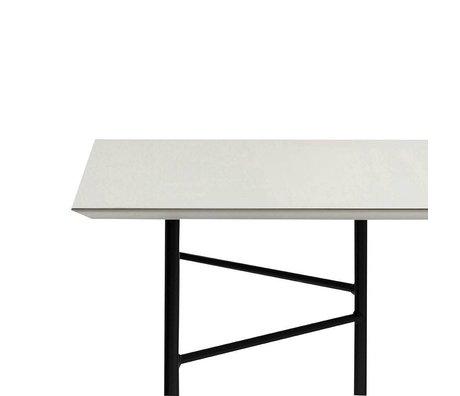 Ferm Living Mingle tabletop light gray linoleum 210x90x2cm