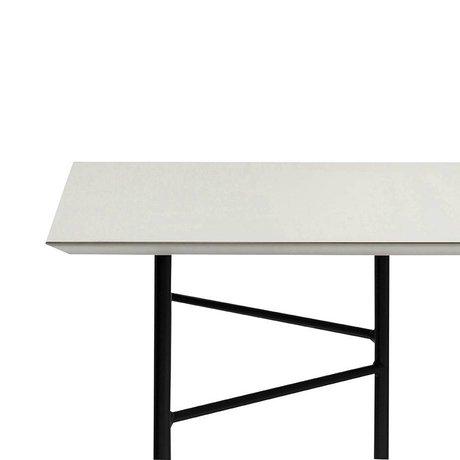 Ferm Living Mischen Sie sich Tischplatte hellgrau Linoleum 210x90x2cm