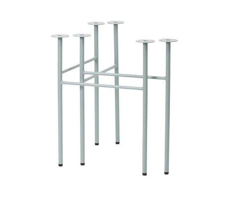 Ferm Living Mingle table legs W68 dusty blue set of 2