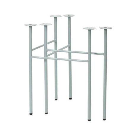 Ferm Living Mêler pieds de table ensemble bleu W68 poussiéreux de 2