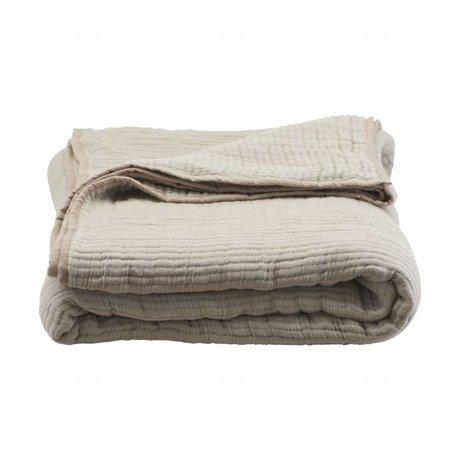 Housedoctor Bedspread Lia Sandfarbe Baumwolle 260x260cm