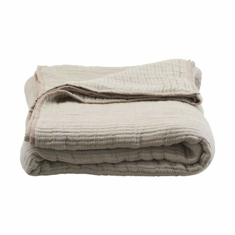 Housedoctor Bedspread Lia sand color cotton 260x140cm