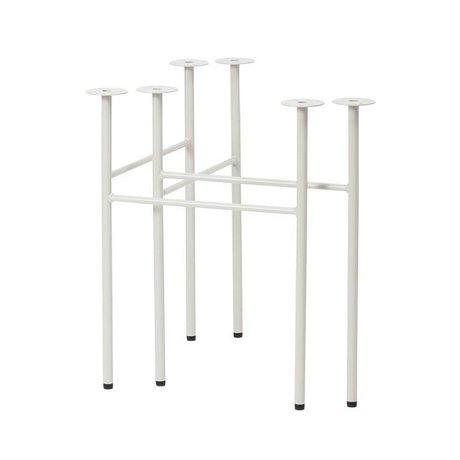 Ferm Living Mêler pieds de table ensemble gris clair W68 de 2