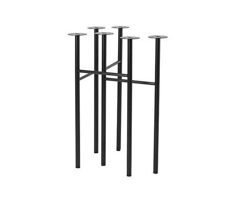 Ferm Living Mêler pieds de table ensemble noir de W48 2