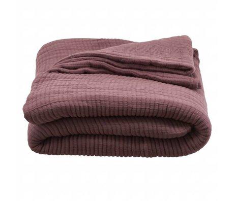 Housedoctor Bedspread Lia bordeaux cotton 260x1260cm
