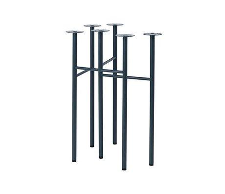 Ferm Living Mingle tafelpoten W48 donker blauw set van 2