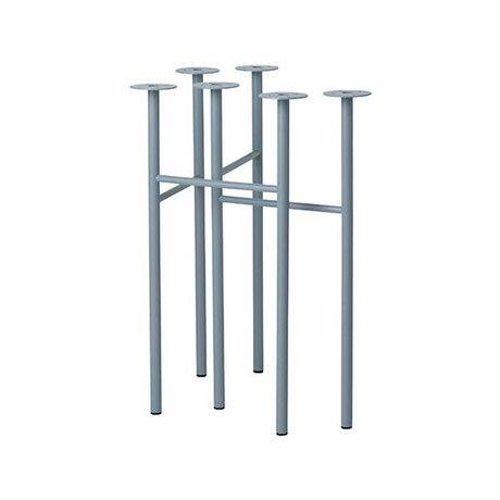 Ferm Living Mingle tafelpoten W48 dusty blauw set van 2