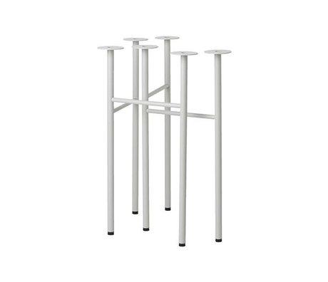 Ferm Living Mingle tafelpoten W48 licht grijs set van 2