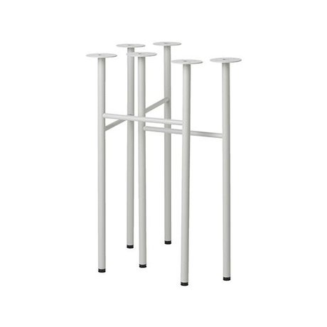 Ferm Living Mêler pieds de table ensemble gris clair W48 de 2