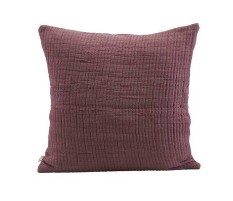 Housedoctor Housse de coussin Lia bordeaux coton 50x50cm