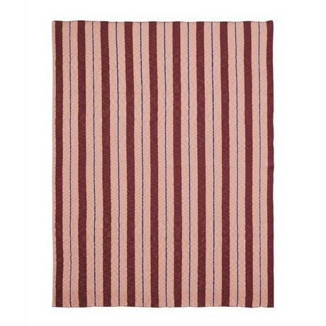 Ferm Living Plaid Pinstripe roze textiel 160x120cm