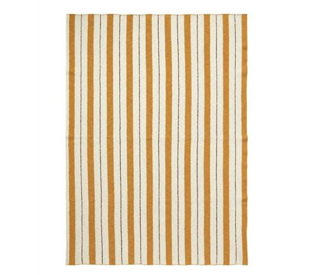 Ferm Living Plaid Pinstripe mosterdgeel textiel 160x120cm