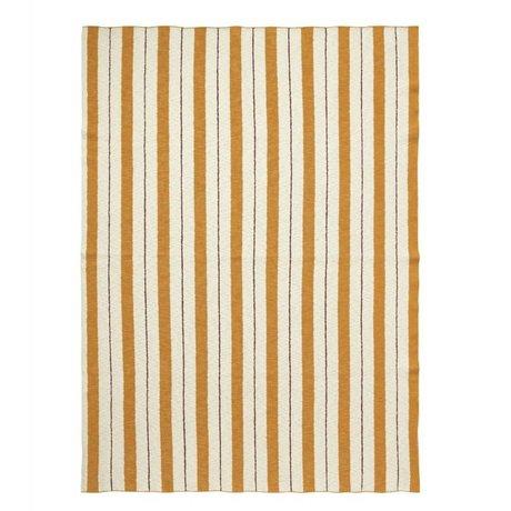 Ferm Living Plaid Pinstripe mustard yellow textile 160x120cm