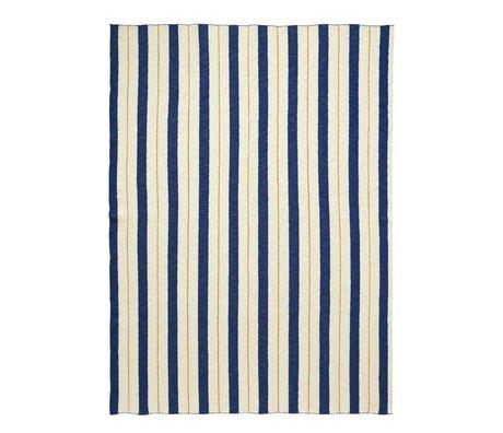 Ferm Living Pinstripe blau karierten Stoff 160x120cm