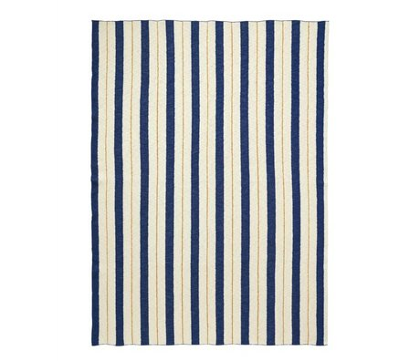 Ferm Living Plaid Pinstripe blue textile 160x120cm