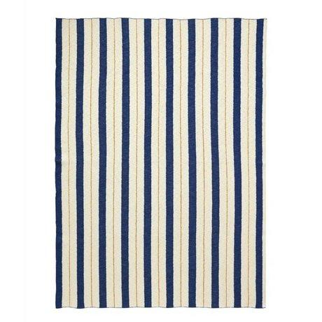 Ferm Living Plaid Pinstripe blauw textiel 160x120cm