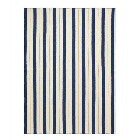 Ferm Living tissu à carreaux bleu filet 160x120cm