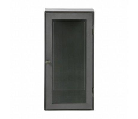 BePureHome Vitrinekast Manta L hangend grijs metaal 60x30x25cm