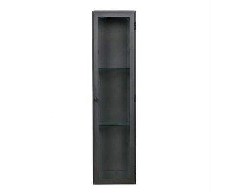 BePureHome Vitrinekast Manta XL hangend grijs metaal 120x30x25cm
