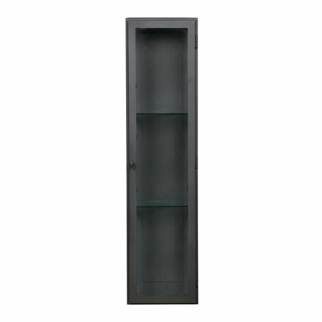 BePureHome Vitrine manta XL hängen graue Metall 120x30x25cm