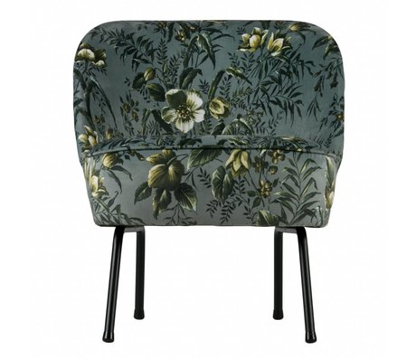 BePureHome Fauteuil Vogue Poppy velours gris 69x57x70cm