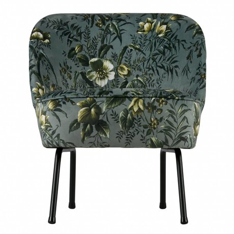 BePureHome Armchair Vogue Poppy gray velvet 69x57x70cm