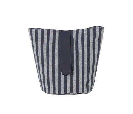 Ferm Living Hamper petit chambray Ø22x25cm coton gris foncé