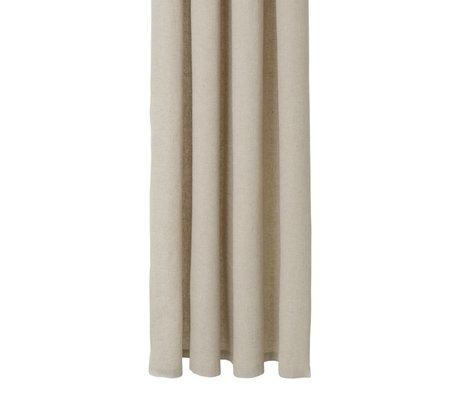 Ferm Living Douchegordijn Chambray beige katoen 160x205cm