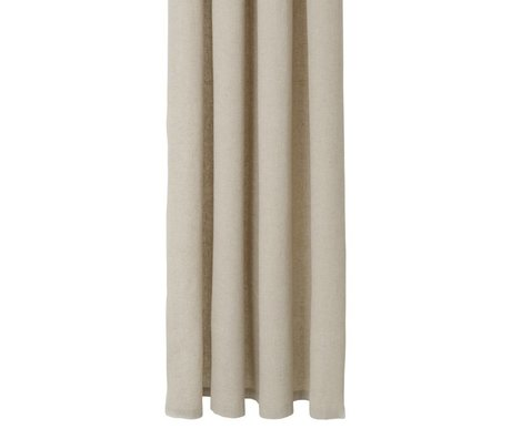 Ferm Living Shower curtain Chambray beige cotton 160x205cm