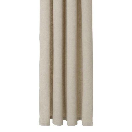 Ferm Living coton chambray rideau beige 160x205cm