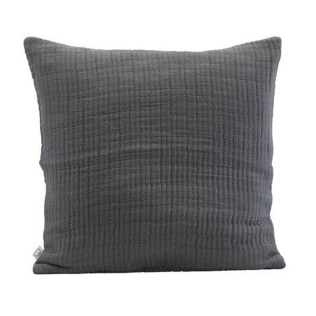 Housedoctor Housse de coussin Lia gris foncé coton 50x50cm