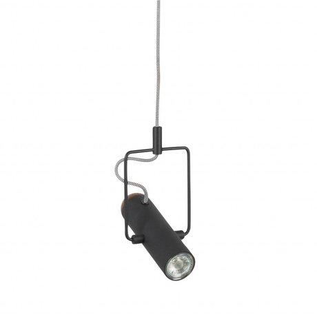 Zuiver Hanging lamp Marlon black metal 12x20,5x160cm