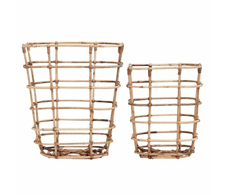 Housedoctor Basket Square rattan set of 2