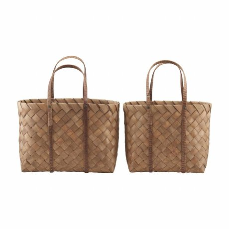 Housedoctor Bag Beach brown set of 2