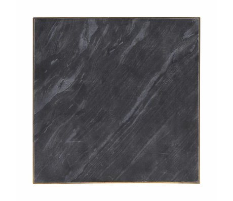 Housedoctor Serveerbord zwart marble 30x30x1,5cm