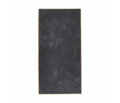 Housedoctor Serving plate black marble 30x15x1,5cm
