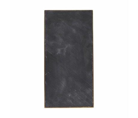 Housedoctor Servir Plate 30x15x1,5cm en marbre noir