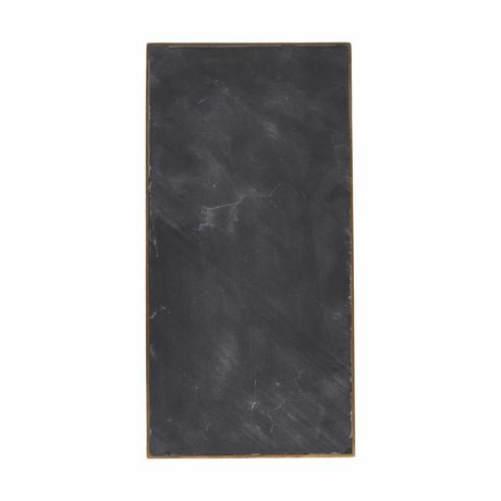 Housedoctor Serve Platte aus schwarzem Marmor 30x15x1,5cm