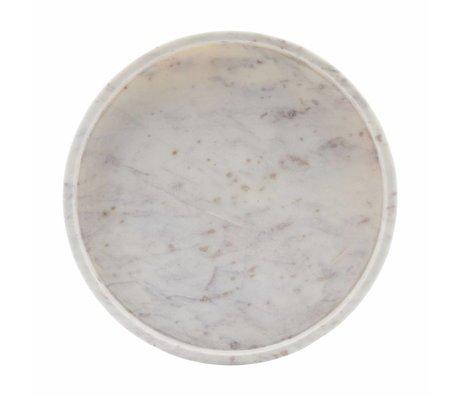 Housedoctor Dienblad wit marble 30x4cm